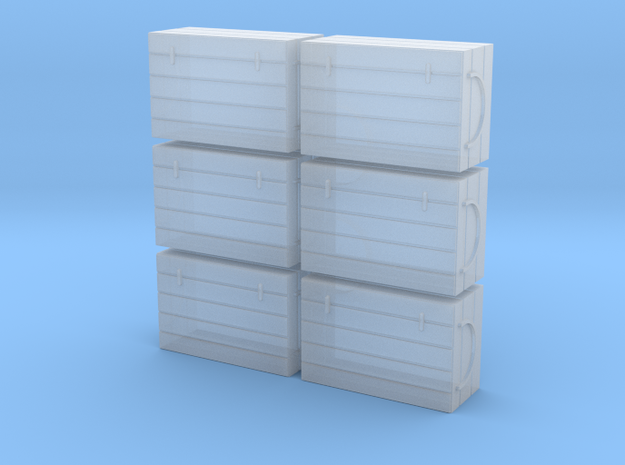 S 6 Fish Crates in Smooth Fine Detail Plastic