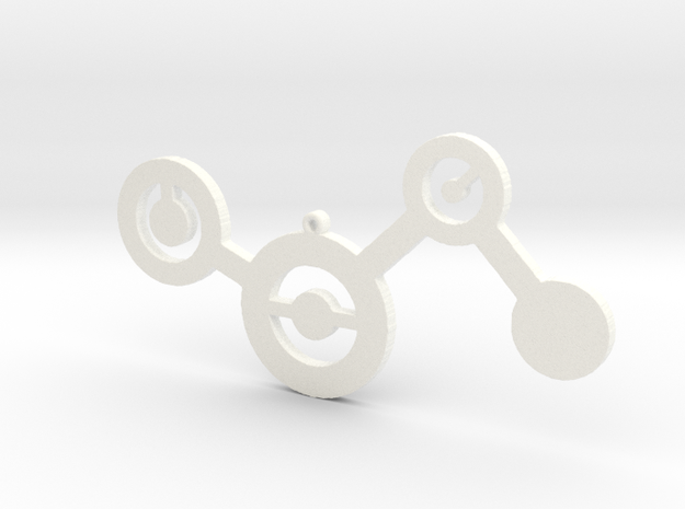 Minimalist Charm in White Processed Versatile Plastic