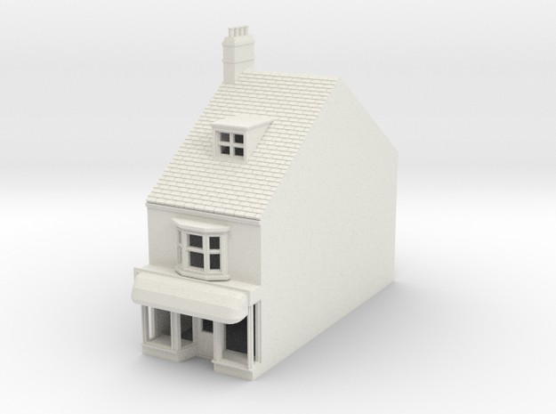 HHS-9 N Scale Honiton High street building 1:148 in White Natural Versatile Plastic
