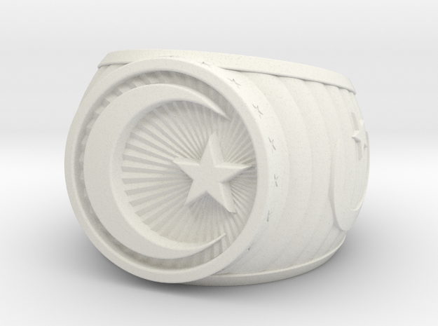Muslim Ring in White Natural Versatile Plastic