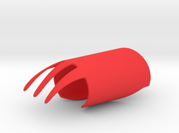 Finger Fork in Red Strong & Flexible Polished