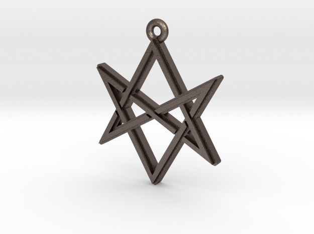 """Unicursal Hexagram"" Pendant, Printed Metal"