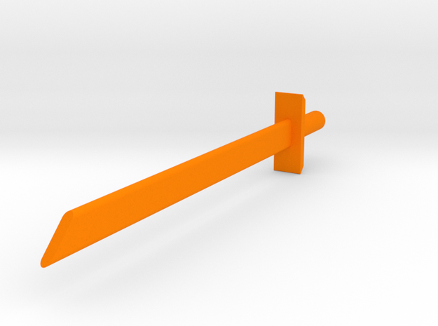 Blank blade in Orange Strong & Flexible Polished
