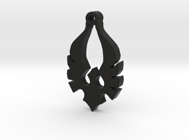 Blood Knight crest with bail 3d printed