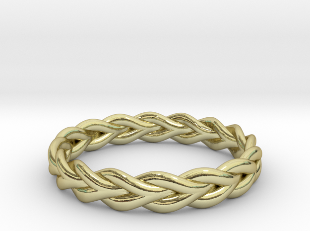 Ring of braided rope in 18k Gold Plated Brass