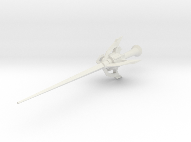 RWBY Myrtenaster - Small Scale in White Natural Versatile Plastic