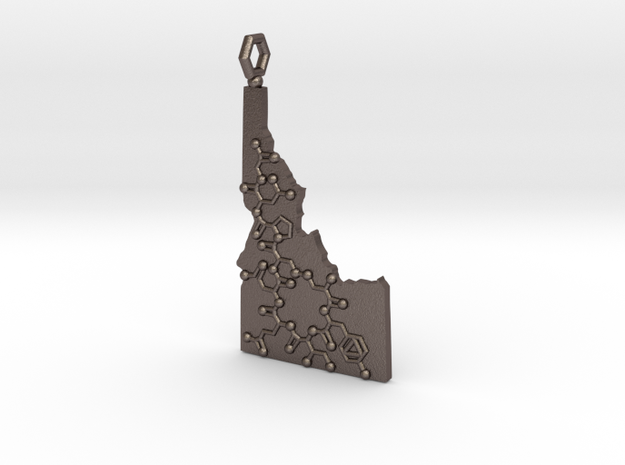 Solid Idaho Oxytocin in Polished Bronzed Silver Steel