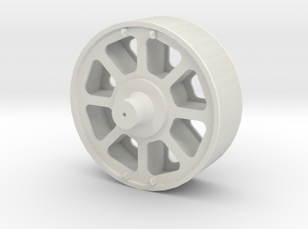 Pulley Load for QTTX depressed flat car in White Natural Versatile Plastic