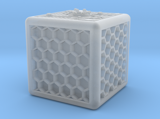 Energy Cube in Smooth Fine Detail Plastic