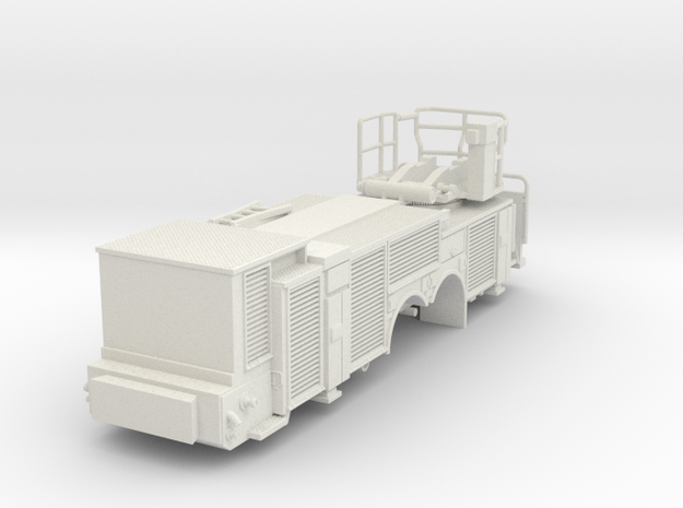 Vehicle-016-rear-section-hollow 1-64 in White Natural Versatile Plastic