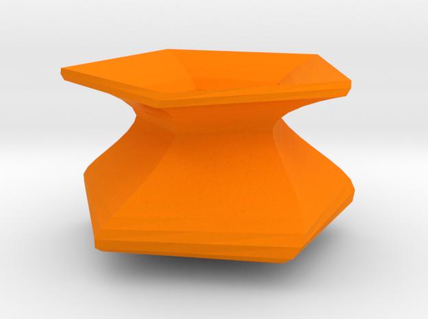 Twisted vase in Orange Processed Versatile Plastic