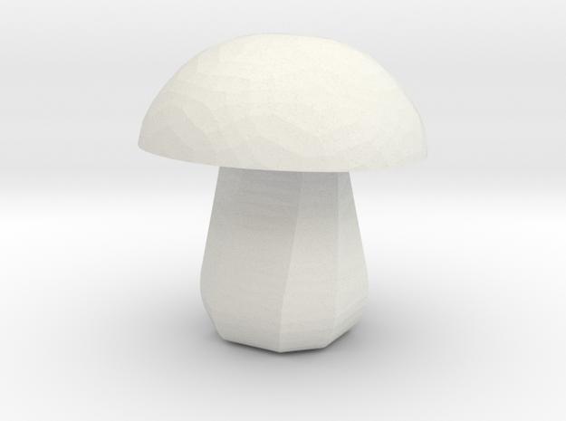Mushroom Micro in White Natural Versatile Plastic