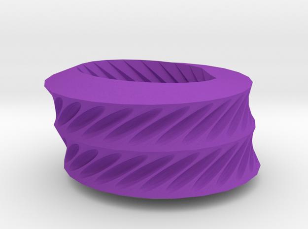 Twisted ovals bracelet in Purple Processed Versatile Plastic