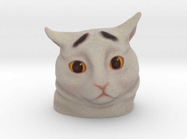 Eyebrow Cat in Full Color Sandstone