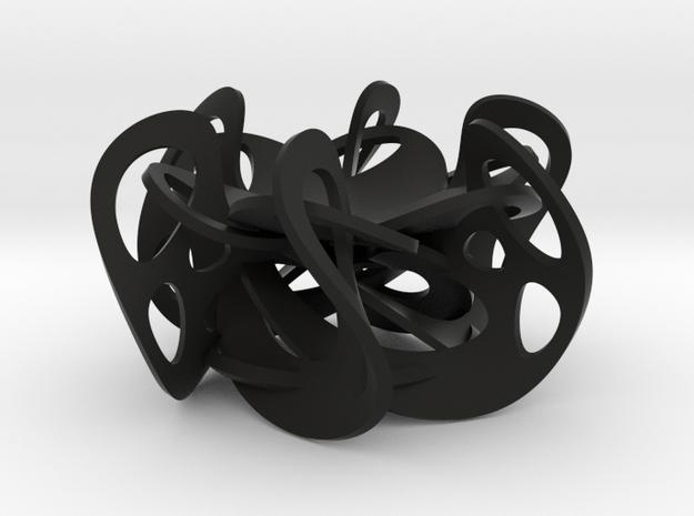 Flex Ring Holder in Black Natural Versatile Plastic