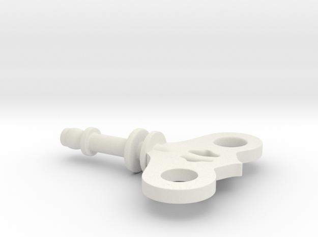 Wind-Up Key - Shinki Scale in White Natural Versatile Plastic