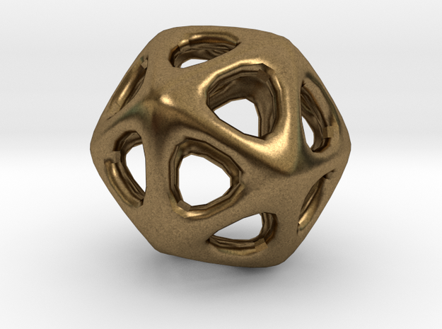 Icosahedron - 2.3cm in Natural Bronze