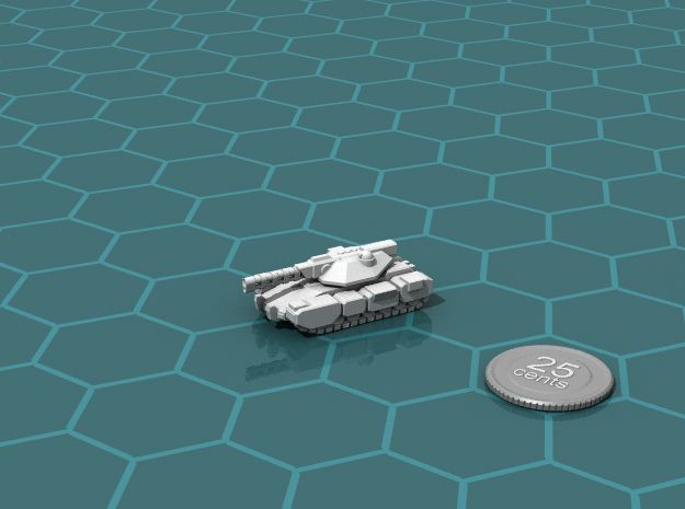 Colonial Main Battle Tank in White Strong & Flexible