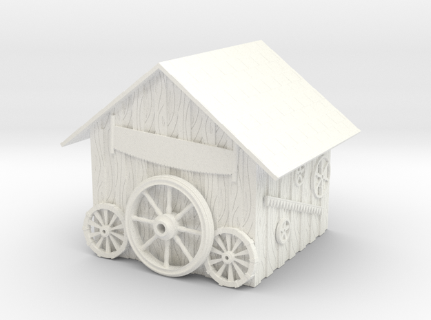 Detailed Rustic Shed #2 in White Processed Versatile Plastic