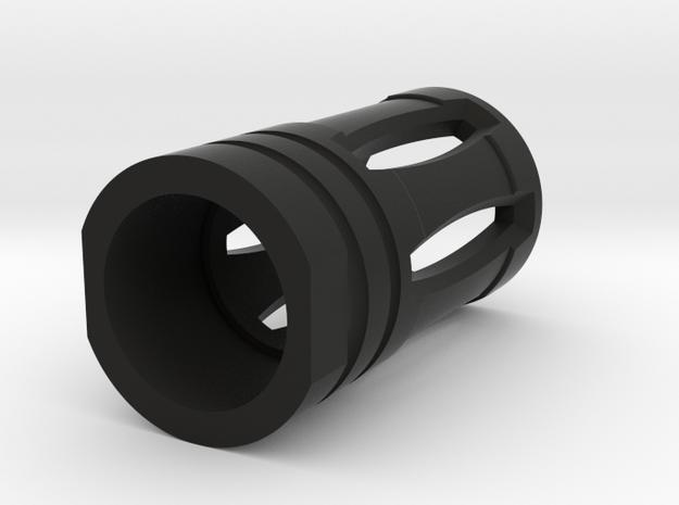 Nerf birdcage muzzle  in Black Natural Versatile Plastic