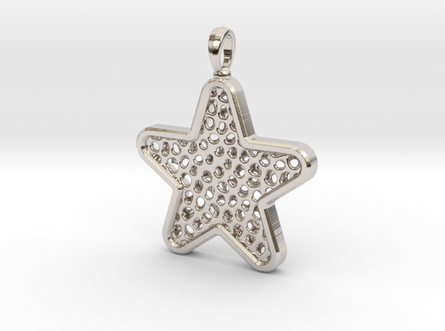 Pendant Little Star in Rhodium Plated
