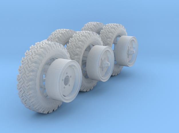 1/35th Australian LRPV Land Rover wheels. in Smooth Fine Detail Plastic