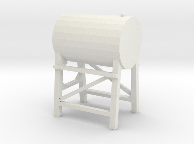 1/64 Fuel Tank in White Strong & Flexible