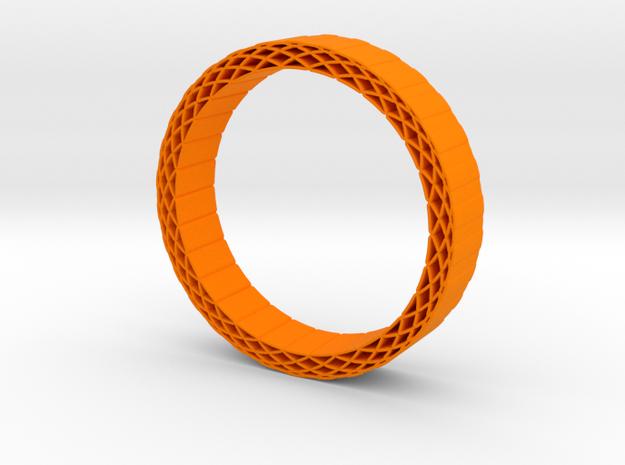 Rhombus holes bracelet in Orange Processed Versatile Plastic