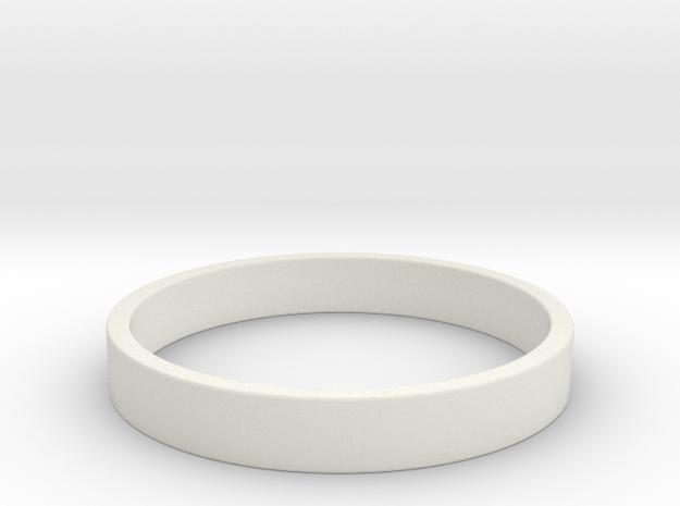 Simple and Elegant Unisex Ring | Size 8 in White Natural Versatile Plastic