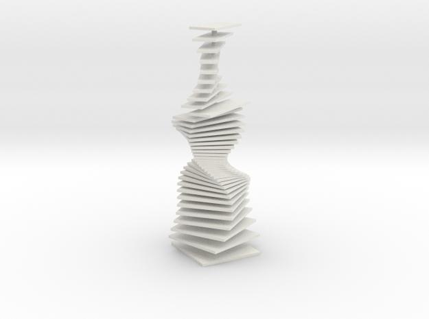 Tower in White Natural Versatile Plastic