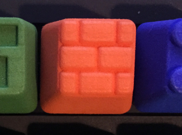 Brick Block Cherry MX Keycap in Orange Processed Versatile Plastic
