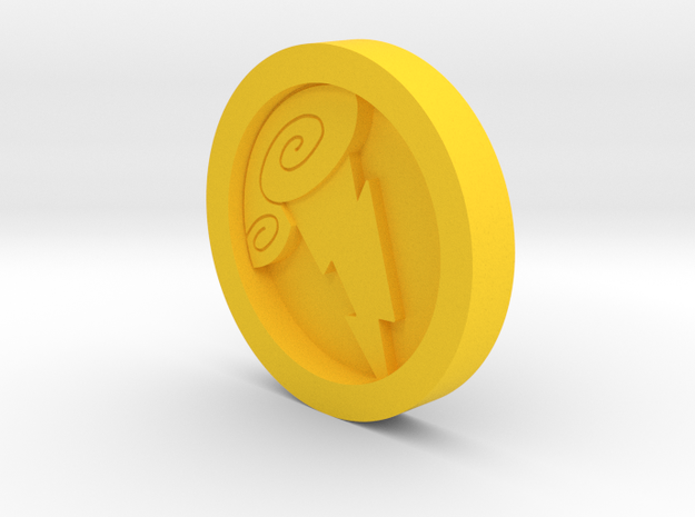 Hercules Medal - Coin in Yellow Strong & Flexible Polished