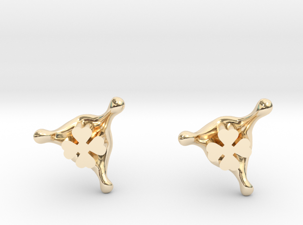 LuckySplash stud earrings in 14k Gold Plated Brass