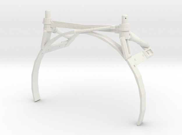 3d Strut Shuttle Rear Temp in White Natural Versatile Plastic