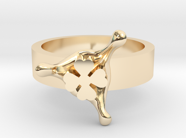 LuckySplash ring size 8 U.S. in 14k Gold Plated Brass