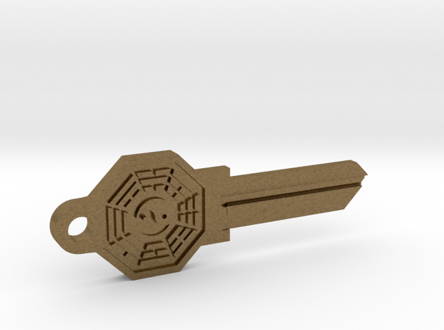 Bagua House Key Blank - KW1/66 in Natural Bronze