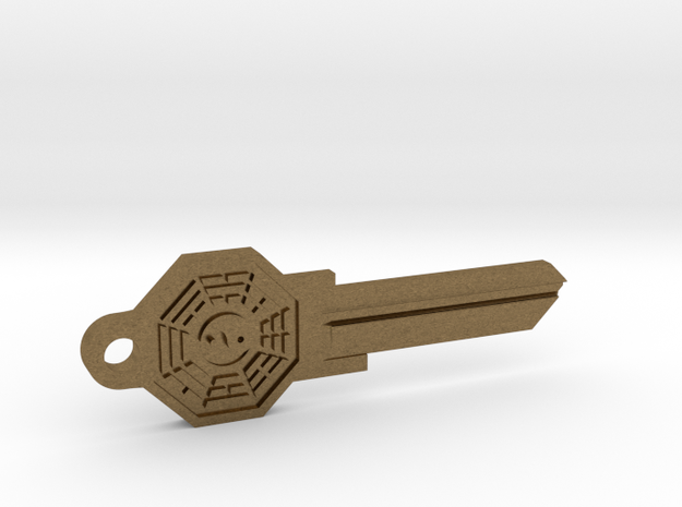 Bagua House Key Blank - KW11/97 in Natural Bronze