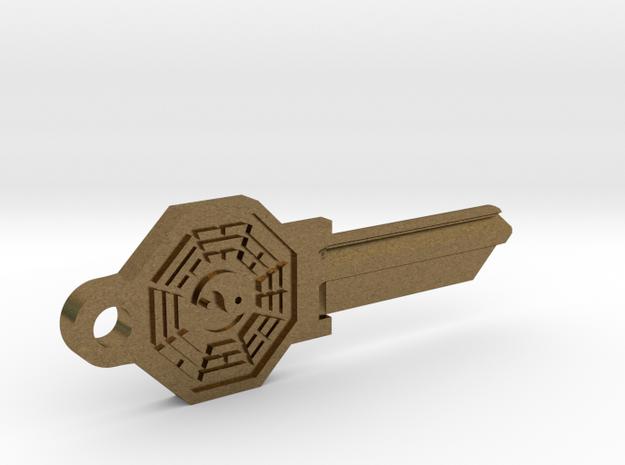 Bagua House Key Blank - SC1/68 in Natural Bronze