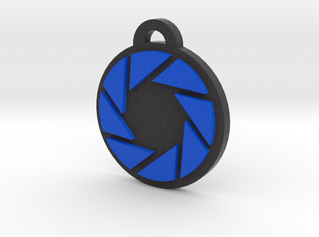 Portal Aperture Science Pendant in Full Color Sandstone