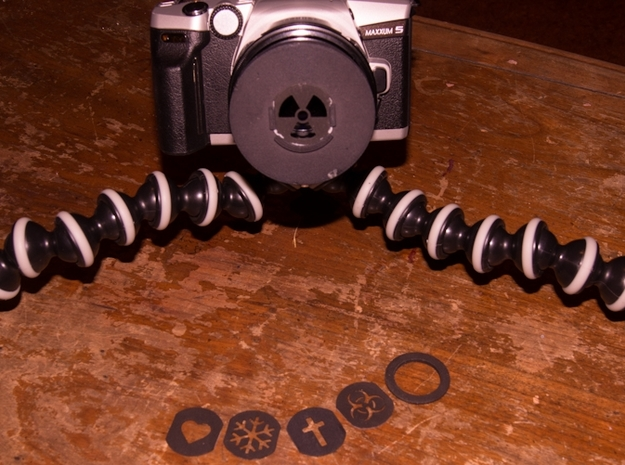 Photography Creative aperture set (fits over 55mm  in White Strong & Flexible