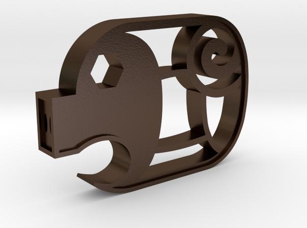 Piggy Cuts V2 - Hollow Nostrils  FULL SIZE in Polished Bronze Steel
