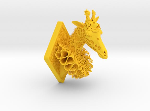 Giraffe in Yellow Strong & Flexible Polished