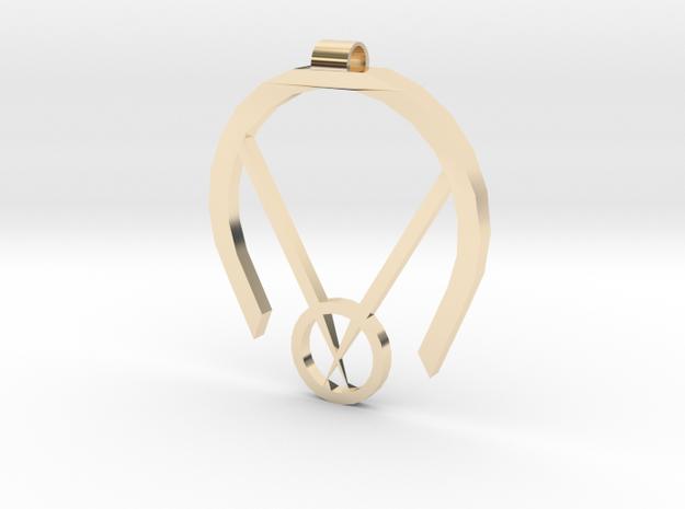 Passive Aggressive Pendant in 14k Gold Plated Brass