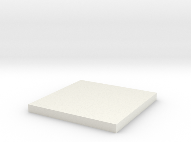 'HO Scale' - 12'x12' Foundation Pad in White Natural Versatile Plastic