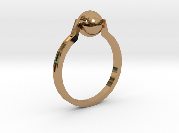 Twisted Ring in Polished Brass