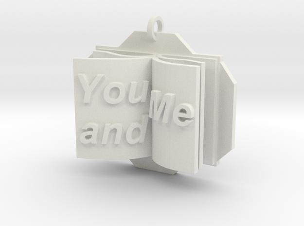You&Me Pendant in White Natural Versatile Plastic