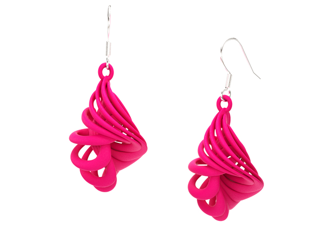 CARACOLA EARRINGS 3d printed