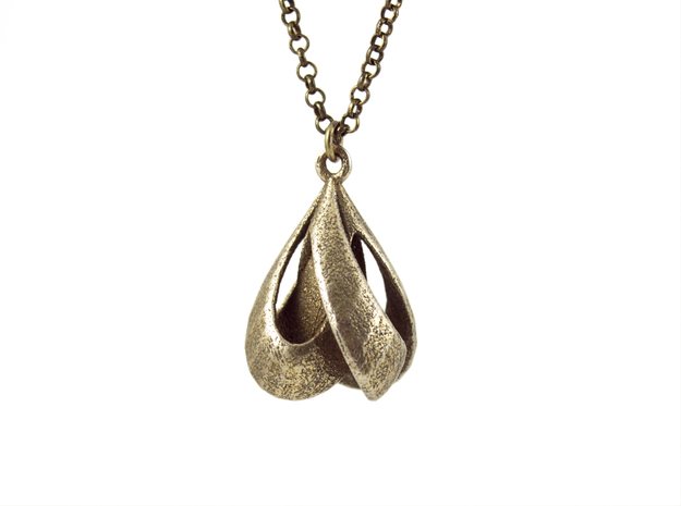 KNOT PENDANT in Polished Bronzed Silver Steel