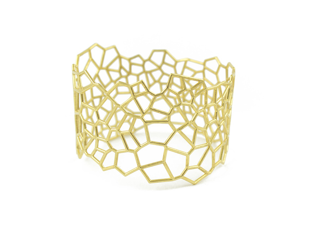 Voronoi Bracelet size L in 18k Gold Plated Brass