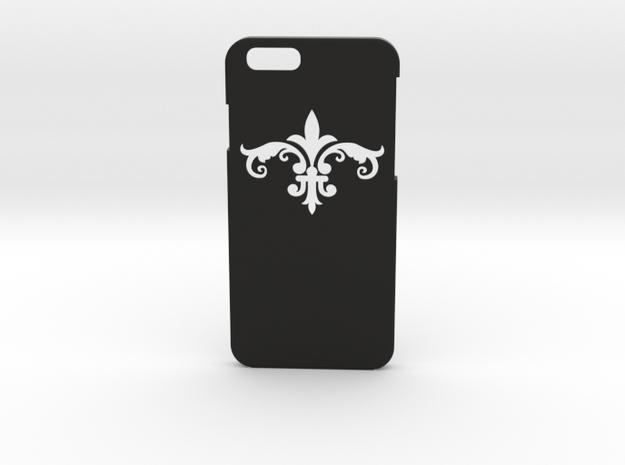 Fleur De Lis iPhone6 Case in Black Strong & Flexible